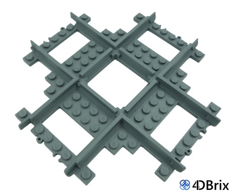 4DBrix LEGO® Compatible Triple Crossover
