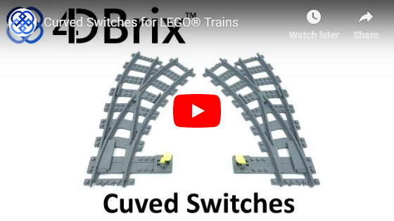 4DBrix Curved Switches for LEGO® Trains