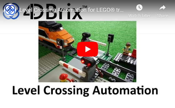 4DBrix Level Crossing Automation for LEGO® Trains