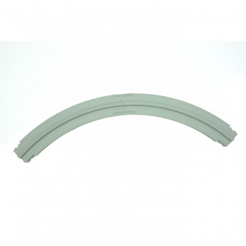 Monorail Short Curve Right - Light Gray