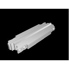 Monorail Short Straight Diagonal Track - Light Gray