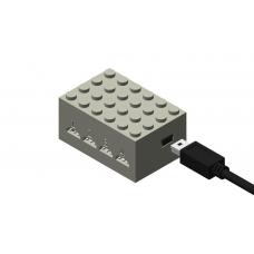 Monorail Quad Switch Controller - Light Gray