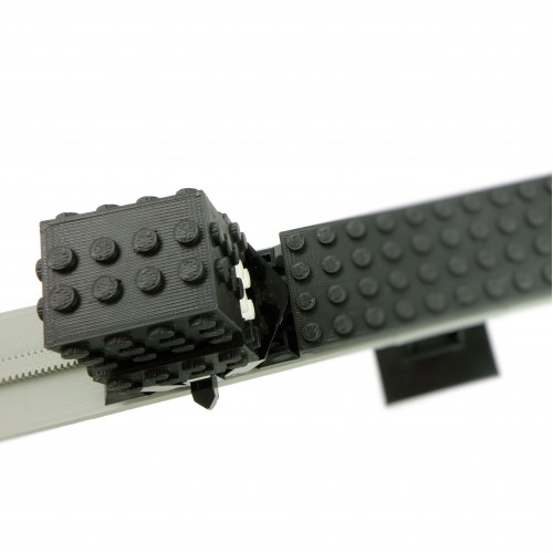 Monorail Motor Cover - 68 studs - Black