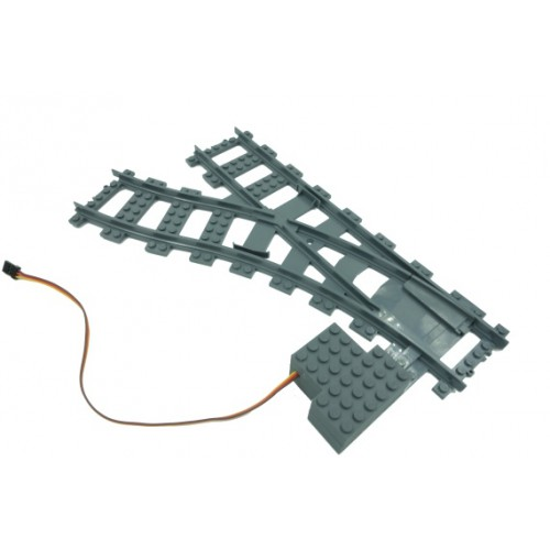 Train Switch Motor Left - Dark Bluish Gray