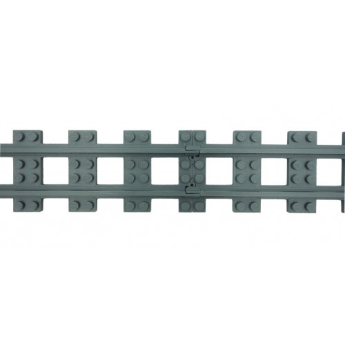 Train Full Straight Narrow Gauge Track - Dark Bluish Gray