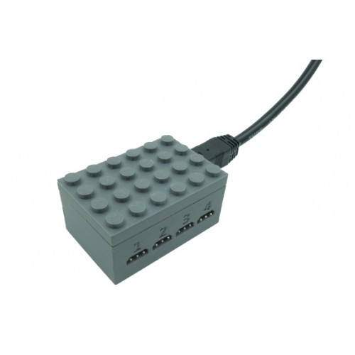 Train Quad Traffic Light Controller - Dark Bluish Gray