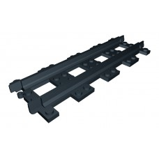 Train Full Straight Narrow Gauge Track - Black
