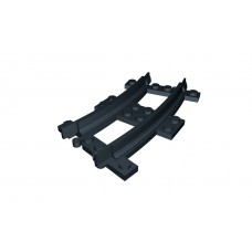 Train Half Curve Narrow Gauge Track - Black