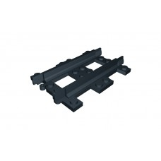 Train Half Straight Narrow Gauge Track - Black