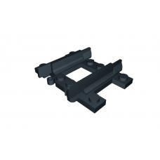 Train Quarter Straight Narrow Gauge Track - Black
