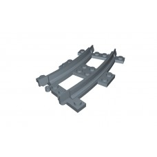 Train Half Curve Narrow Gauge Track - Dark Bluish Gray