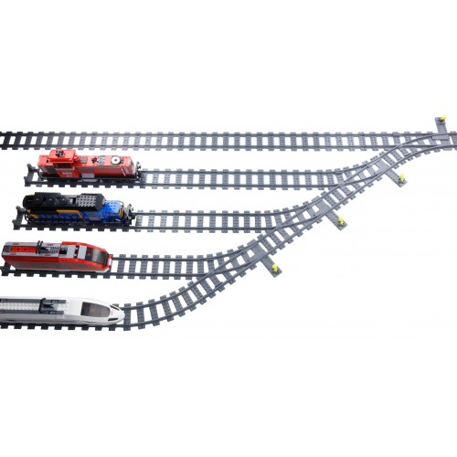 Train Divergent Track Rail Yard  - Left Turn (#28)